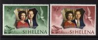 1972 - ST. HELENA - NOZZE D´ARGENTO REALI INGLESI / SILVER WEDDING - SET. MNH - Emissioni Congiunte