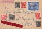 Gemeina. Brief Eilbote Mif Minr.2x 917,3x 943,945,966 Münsterdorf 29.12.47 - Gemeinschaftsausgaben
