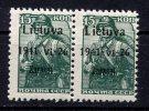 Lithuania, Litauen, Zarasai, German Occupation, 1941, Michel: 3a I+IX, MNH ** BPP - Occupation 1938-45