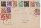 Gemeina. Brief Zehnfach Mif Minr.2x 943,2x 944,925,947,945,4x 951,959 Norden 22.6.48 - Gemeinschaftsausgaben