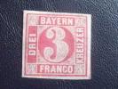Germany Bavaria Stamp #10 Mint OG HR XF Signed - Bavaria