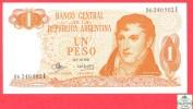 Argentina 1 Peso 1970-73 Uncirculated  # 287 Banknote / Argentine Billet - Papier Monnaie - Argentina