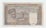 Tunisia 100 Francs 1941 VF+ Banknote P 13a  13 A - Tunisie