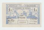 New Caledonia 1 Franc 1943 XF CRISP Banknote P 55a  55 A - Nouméa (New Caledonia 1873-1985)