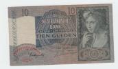 Netherlands 10 Gulden 1942 VF+ CRISP P 56b  56 B - 10 Gulden