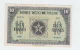 Morocco 10 Francs 1944 AXF CRISP WWII Banknote P 25 - Morocco