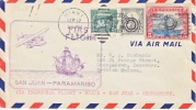 U.S.  FIRST FLIGHT Via PUERTO RICO To BRITISH GUIANA - Puerto Rico
