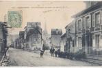 CPA 76 HARFLEUR Arrivée Par La Route Du Havre Troupeau De Chèvres Et Petit Berger Chien Animation 1909 - Harfleur