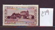FRANCE. TIMBRE. CINDERELLA. VIGNETTE. BELLE FRANCE. PARIS.............MAYENNE - Tourisme (Vignettes)