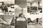 BREST .Le Pont Levant ,la Rue Du SIAM ,le Chateau . - Brest