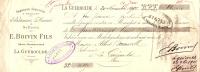 Mandat à Ordre/Bâtiment Marine/ Sellerie/Boivin/La GUEROULDE, Eure. 1905     FACT1 - France