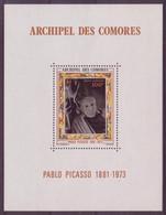 Comores N° 1** Bloc Feuillet , Pablo Picasso