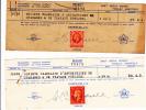 1936 & 1938 - Postage Revenue On Receipt Reçu Hadfields - Steuermarken