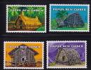 PNG 1976  Traditionnal Houses  Sc 433-6  **  MNH - Papouasie-Nouvelle-Guinée