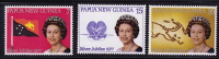 PNG 1977  Queen Elizabeth II Silver Jubilee    Sc 462-4  **  MNH - Papouasie-Nouvelle-Guinée