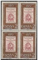 España 1972 Edifil 2076 Sellos ** B4 Año Internacional Del Libro Y La Lectura Spain Stamps Espagne Timbre Briefmarke Spa - 1931-Hoy: 2ª República - ... Juan Carlos I