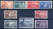 YU 1951-644-52 DEFINITIVTE AIR MAIL SERVICE, YUGOSLAVIA, 1 X 9v, MNH,** - Jugoslawien