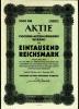 1941 Aktie Hist. Wertpapier , Vigogne Aktien Spinnerei Werdau  - 1000 Eintausend Reichsmark - Industrie