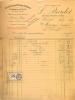 FACTURE L. BARDET FABRIQUE DE PIPES FOURNITURES BUREAUX DE TABACS  PARIS 11/1931 AVEC TIMBRE FISCAL - Francia