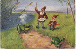 Grosses Grenouilles Avec Lutins Frogs With Dwarves Edit Tuck CG - Animaux & Faune