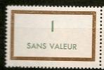FRANCE Fictif  N° F165 Neuf Et Sans Charnière - Phantomausgaben