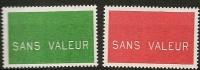 FRANCE Fictif  N° F239 Et 240 Neufs Et Sans Charnière - Phantomausgaben