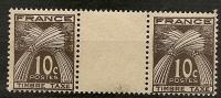 FRANCE - Timbres Taxe N°78 Neufs Sans Charnière En Paire Avec Inter Panneau - 1859-1955.. Ungebraucht