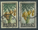 VEND TIMBRE D ´ ALGERIE N° 280 AVEC VARIETE DE COULEUR : DATTES JAUNES - CADRE NOIR - VERT FONCE + TIMBRE ORIGINAL (b) - Gebraucht