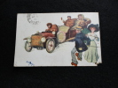 """"""" Automobile """" Un Monstre  Arrive... Carte Illustrée . - Postkaarten"""