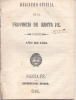 REGISTRO OFICIAL DE LA PROVINCIA DE SANTA FE II SEMESTRE AÑO 1863 IMPRENTA DEL ESTADO AÑO 1864 39 PAGINAS - Verzameling
