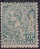 *PROMO* 25c Albert Ier Neuf * TB Et Signé CALVES (Y&T N° 16 Cote: 350€)