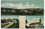 Carspach Bei Altkirch OE Totalansicht, Kirche, Schule, Bad Sonnenberg J. Kuntz Guebwiller - Other Municipalities