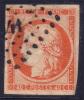 *PROMO* 40c Cérès De 1849 Orange TB Signé BRUN (Dallay #5, Cote: 600€) - 1849-1850 Ceres