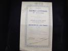 """Obligation """"Sté Du Cabinet Littéraire De Verviers""""1935 - Casino"""