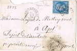Carta PASSY Les PARIS 1864. Numeral 2793 - 1862 Napoleone III