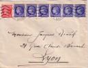 MAZELIN - SUPERBE AFFRANCHISSEMENT A 4F60 AVEC BANDE DE 6 X 0.60 + 1F - DE ANNEMASSE HTE SAVOIE 30-5-1947. - Postal Rates