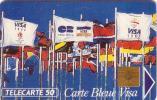 FRANCE PRIVEE CARTE BLEUE VISA DRAPEAU FLAG N° B1C242 EN 275 UT - France