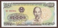 VIETNAM 1000 DONG 1988 SERIE OI   Ho Chi Minh  UNC - Vietnam