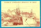 Carte De Sociétaire 29 BREST Finistère - Syndicat D' Initiative Régional * Illustration Bateaux Voilier - Old Paper