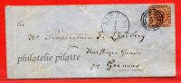 DANEMARK LETTRE DE 1863 DE AARHUS POUR GRENAAE - Briefe U. Dokumente