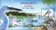 Vanuatu 2007 Birds Herons Minisheet MNH - Storks & Long-legged Wading Birds