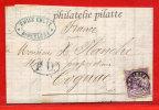 ESPAGNE LETTRE DE 1875 DE BARCELONE POUR COGNAC FRANCE - 1875-1882 Regno: Alfonso XII