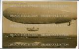 FOTO CARTOLINA FORMATO PICCOLO DIRIGIBILE M6 GROTTAGLIE TARANTO ANNO 1920 - Dirigeables