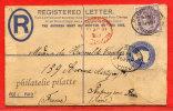 GRANDE-BRETAGNE ENTIER POSTAL RECOMMANDE DE 1901 DE YORK POUR FONTENAY SOUS BOIS FRANCE - Luftpost & Aerogramme