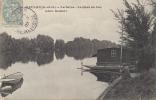 78 - MEULAN - CPA - La Seine - Le Quai Au Bac (Chez Goulet) - Circulée 1907 - Meulan