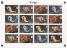 TONGA // 2012 - Faune En Danger, Hippocampes Wwf - Feuillet Neufs // Mnh Sheetlet - Tonga (1970-...)