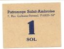 PATRONAGE DE ST AMBOISE . . 1 SOL - Bons & Nécessité