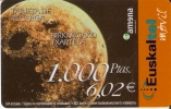 TARJETA DE ESPAÑA DE EUSKALTEL MOVIL DE 1000 PTAS (RECARGA AMENA) PLANETA MARTE - Astronomùia