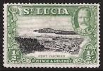 St. Lucia SG 113. 1/2d Black And Bright Green. UM. Check Condition Report - St.Lucia (...-1978)