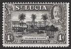 St. Lucia SG 114. 1d Black And Brown. VVVLMM. Check Condition Report - St.Lucia (...-1978)